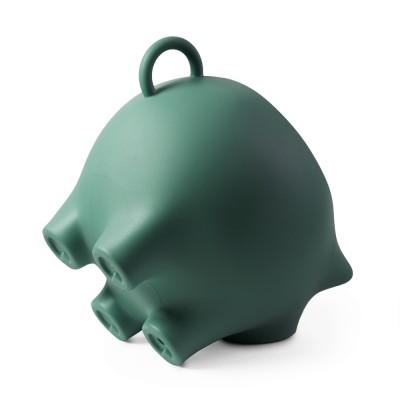 Werkwaardig bijzetvarken Seagreen, 100% gerecycled visnetkunststof.