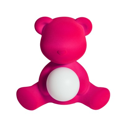 Qeeboo Teddy Girl Velvet LED lamp