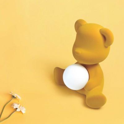 Qeeboo Teddy Girl Velvet LED lamp